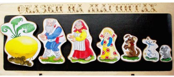 Кукольный театр Бэмби Сказки на магнитах - Репка 8 предметов к-0543/1 обучающая игра нескучные игры сказки на магнитах теремок к 0543 8