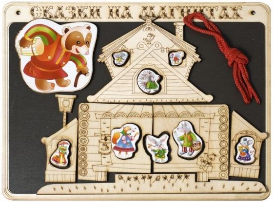 Кукольный театр Бэмби Теремок 17 предметов К-0543/8 бэмби бизиборд замочки теремок