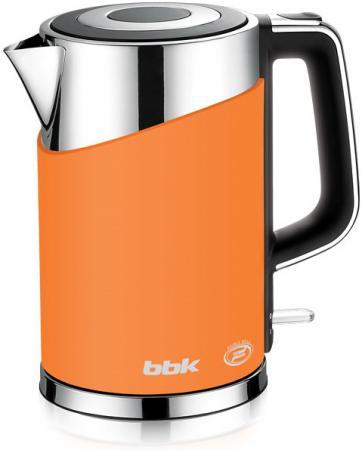 Чайник BBK EK1750P 2200 Вт оранжевый 1.7 л металл/пластик чайник bbk ek1703p 2200 вт 1 7 л пластик белый металлик