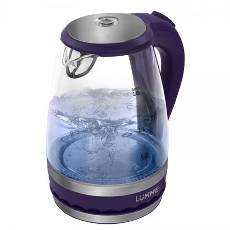 Чайник Lumme LU-220 2200 Вт синий 1.8 л пластик/стекло чайник lumme lu 134 2200 вт черный жемчуг 2 л стекло