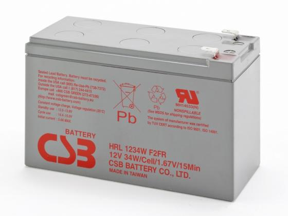Батарея CSB HRL1234W 12V/9AH F2FR аккумулятор patriot 12v 1 5 ah bb gsr ni