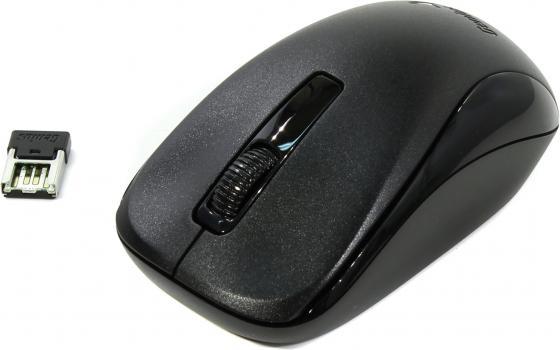 Мышь беспроводная Genius NX-7005 чёрный USB + радиоканал мышь genius nx 7015 usb rosy brown