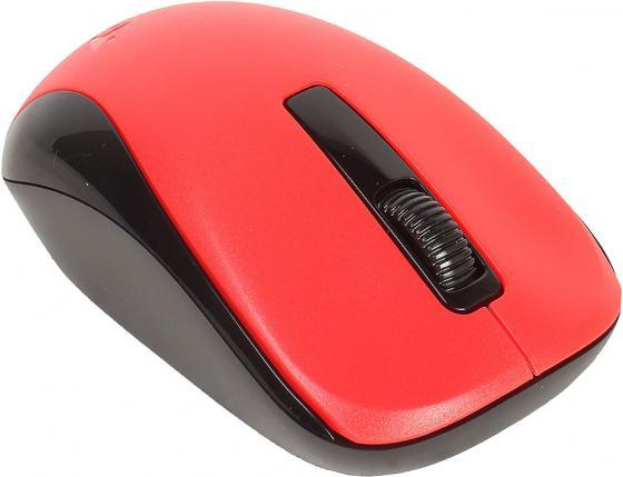 Мышь беспроводная Genius NX-7005 красный чёрный USB + радиоканал genius hs 300a silver