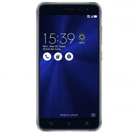 Смартфон ASUS Zenfone 3 ZE552KL черный 5.5 64 Гб LTE Wi-Fi GPS 3G 90AZ0121-M01140 смартфон asus zenfone zoom zx551ml белый 5 5 128 гб nfc lte wi fi gps 3g 90az00x2 m01380