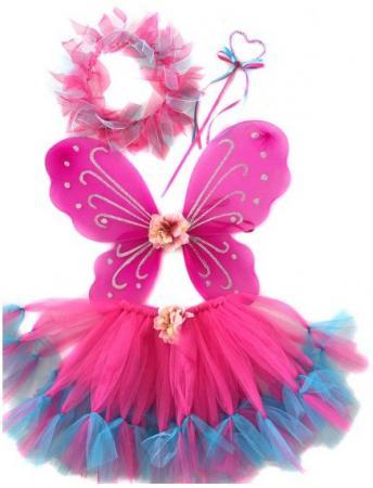 Карнавальный костюм Новогодняя сказка Фея, розовый от 3 лет 972570
