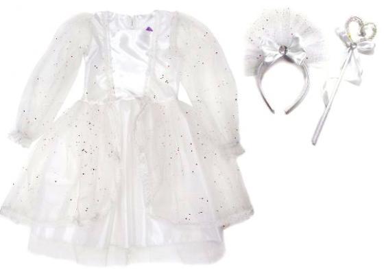 Карнавальный костюм Новогодняя сказка Снежная королева (платье, ободок, палочка) 70 см 972148 детский костюм малышки золушки 24