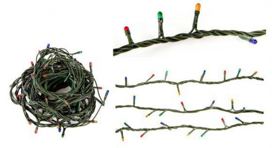 Гирлянда электрическая Новогодняя сказка 100 миниламп рис, цветное свечение, зеленый провод гирлянда электрическая новогодняя сказка 100 миниламп рис цветное свечение зеленый провод