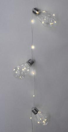 Гирлянда электрическая Новогодняя сказка Лампочка 100 LED, желтое свечение, прозрачн.провод 971610