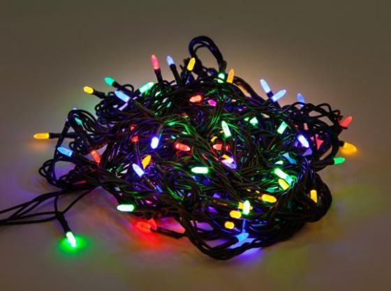 Гирлянда электрическая Новогодняя сказка 100 LED, цветное свечение, зеленый провод, 8 реж.971603 гирлянда электрическая новогодняя сказка 100 миниламп рис цветное свечение зеленый провод