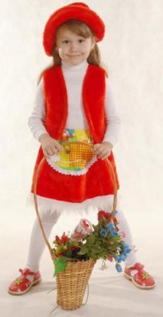 Карнаальный костюм Красная шапочка К-041