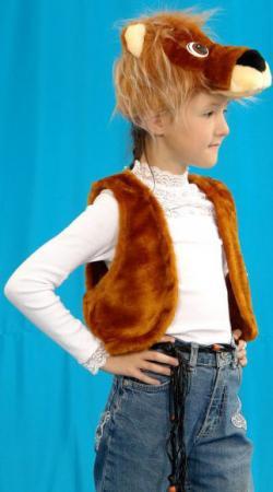 Карнавальный костюм Костюмы Лев (головной убор, жилет) до 9 лет К-020 костюмы babycollection костюм