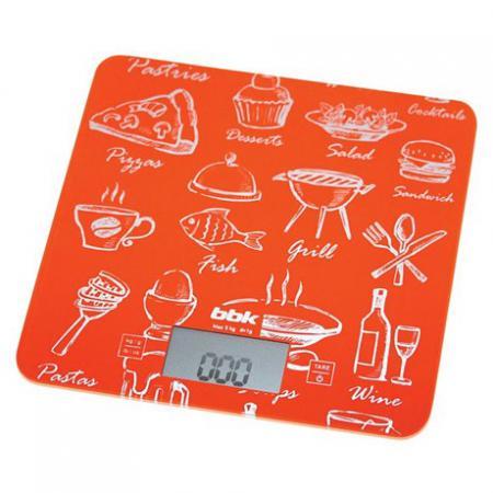 Весы кухонные BBK KS108G оранжевый весы bbk ks108g orange