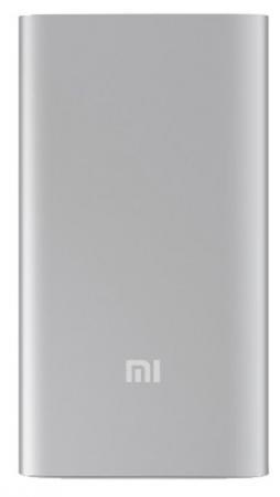 Портативное зарядное устройство Xiaomi Mi Power Bank 5000mAh серебристый NDY-02-AM