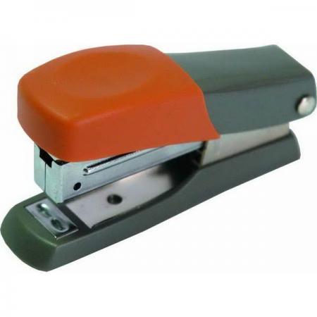 Мини-степлер FUSION, скоба № 10, на 10 листов, серый/оранжевый ламинатор gbc fusion 1000l a4 black