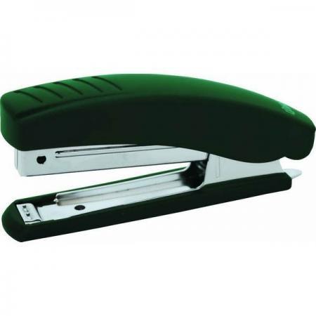 Степлер, скоба №10, на 20 листов, пластиковый корпус, антистеплер, зеленый