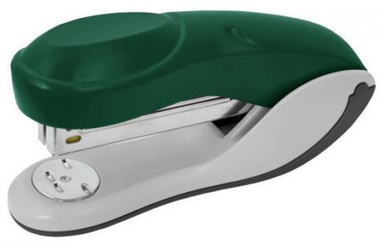 Степлер, скоба №24/6, на 20 листов, пластиковый корпус, зеленый степлер index ims310 gy 20 листов