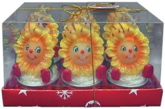 Набор свечей Winter Wings Тигренок с подсолнухом 6 шт 9х6 см N160934 набор свечей winter wings сувенирные свечи 6 шт 4 см n161419
