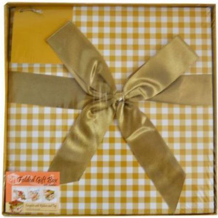 Коробка подарочная Golden Gift КЛЕТКА 25x25x25 см PW1055/255 teak house свеча chrysanthemum