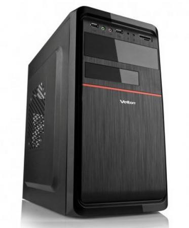 Корпус microATX Velton Velton 7808A 400 Вт чёрный красный корпус microatx exegate mi 205l 300 вт чёрный серебристый ex249478rus