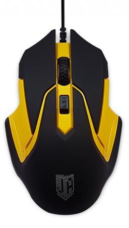 Мышь проводная Jet.A ComfortOM-U57 чёрный жёлтый USB мышь проводная cougar 230m жёлтый белый usb cgr wosy 230