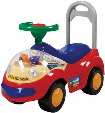 Каталка-машинка Shantou Gepai SP2108-B пластик от 3 лет на колесах разноцветный 2108