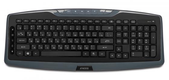 Клавиатура беспроводная Jet.A SlimLine K17 USB серый клавиатура беспроводная jet a slimline k9 bt silver