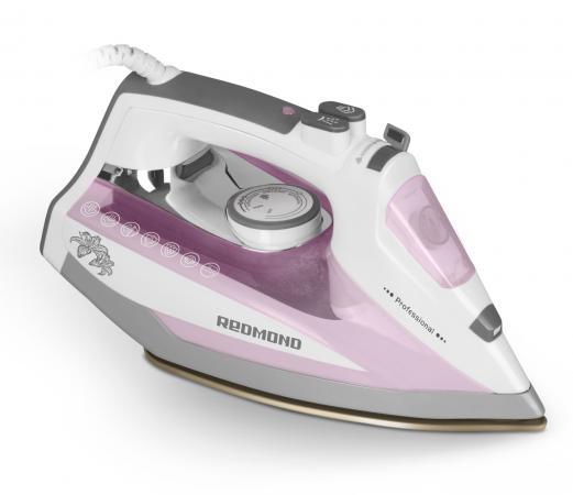 Утюг Redmond RI-D235 2200Вт белый/розовый утюг redmond ri c244 черный розовый ri c244 черный розовый