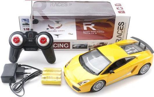 Машинка на радиоуправлении Shantou Gepai 1:18, 4 канала, свет, аккум. желтый от 6 лет пластик 268-2A машинка на радиоуправлении shantou gepai drift car ассортимент от 3 лет пластик 1 20 4 канала 2 вида 8010 1 8010 2