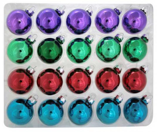 Елочные украшения Winter Wings ШАРЫ 4 см 20 шт разноцветный стекло N07452 елочные украшения winter wings белка белый 6 см 4 шт стекло n07998