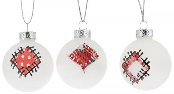 Набор шаров Winter Wings N07967 4 см 3 шт белый стекло набор шаров стекло 80мм 6шт розовый