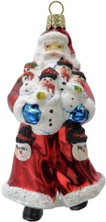 Украшение Winter Wings Дед мороз в красной шубе 10 см 1 шт красный стекло N07615 фигурки игрушки maxitoys дед мороз в шубе