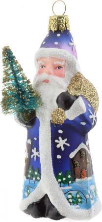 Елочные украшения Winter Wings Дед Мороз с елочкой 8 см 1 шт стекло N07797 украшение новогоднее подвесное mister christmas дед мороз коллекционное высота 10 см