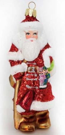 Украшение Winter Wings Дед Мороз 11 см 1 шт красный стекло N07616 игрушка интеркативная дед мороз цвет красный 46 см