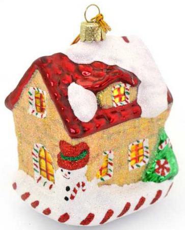 Елочные украшения Winter Wings Дом карамельный 9.5 см 1 шт стекло N07821 украшения