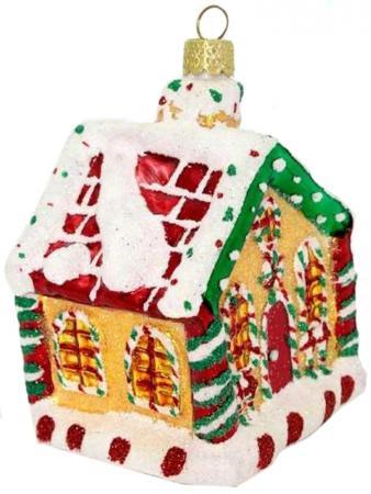 Украшение Winter Wings ДОМИК 7 см 1 шт разноцветный стекло N07648 украшение домик с белой крышей 2х5х4см мульти