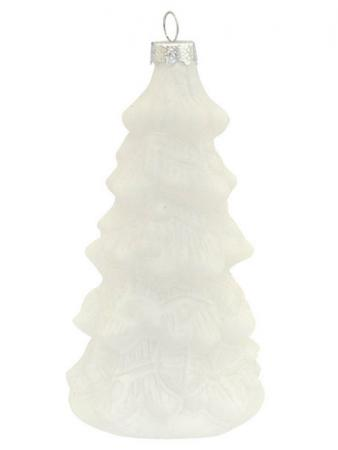 Украшение Winter Wings ЕЛКА 11 см 1 шт белый стекло N07983 цена и фото
