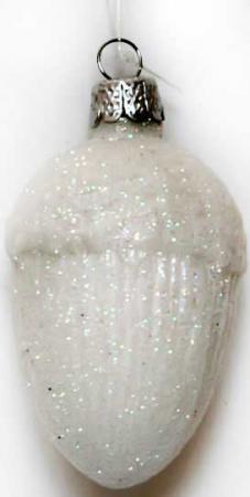 Елочные украшения Winter Wings Орешек 1 шт белый стекло N07630