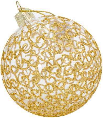 Украшение Winter Wings Сердечко заплатки 8 см 1 шт золотой стекло цена