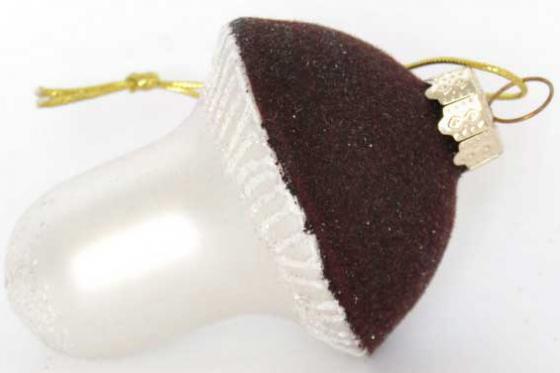Елочные украшения Winter Wings ГРИБОЧЕК 4,5 см 1 шт коричневый стекло N07448