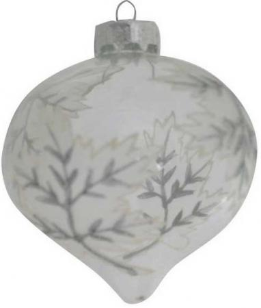 Елочные украшения Winter Wings ЛУКОВИЦА 5 см 1 шт белый стекло N07440