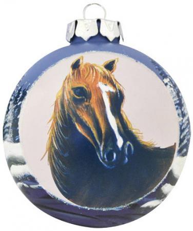 Елочные украшения Winter Wings Шар Лошадь 8 см 1 шт стекло N079071