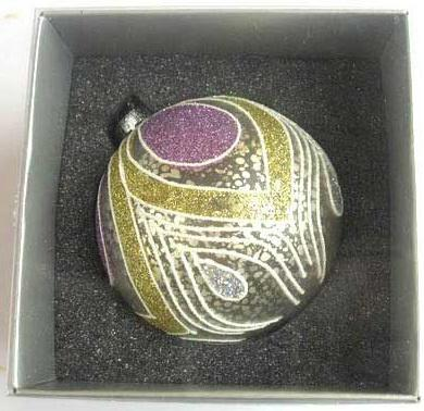 Украшение Winter Wings шар ПАВЛИН 8 см 1 шт серебро стекло N07653 цена