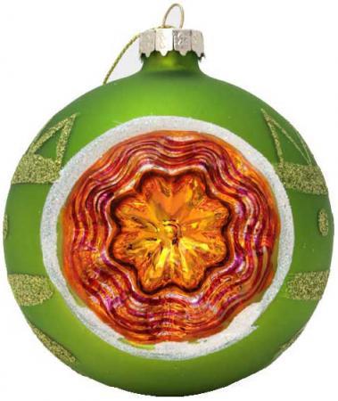 Елочные украшения Winter Wings Шар прожектор 8 см 1 шт зеленый стекло N07567 новогоднее подвесное украшение magic time шар цвет белый золотой 8 см