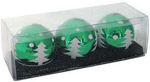 все цены на Набор свечей Winter Wings Шар с елкой 3 шт 5 см онлайн