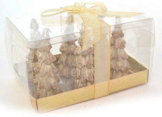 Набор свечей Winter Wings Елочка с блестящей крошкой 6 шт 3х8.5 см набор свечей winter wings сувенирные свечи 6 шт 4 см n161419