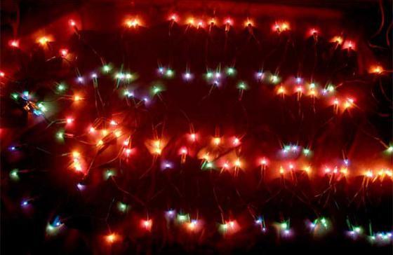 Гирлянда электрическая, 140 ламп, разноцветные, 9 м цена и фото