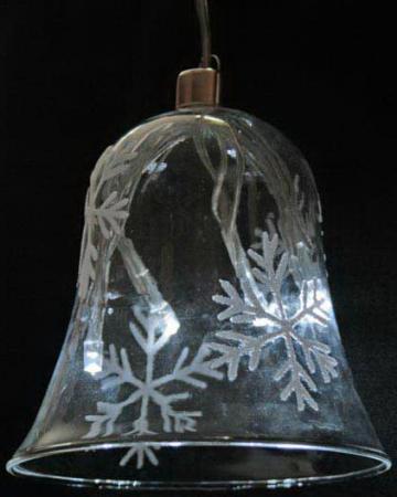 Светильник декоративный КОЛОКОЛЬЧИК 95мм со снежинками, с белыми LED лампами, на батарейках фонарь led на батарейках 20х20х31 см