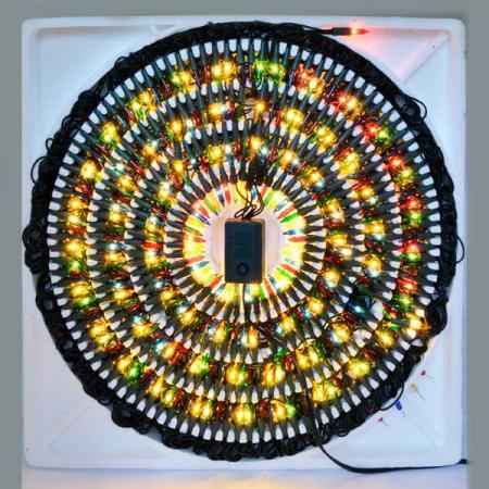 Гирлянда электрическая ромашка, 300 ламп, прозрачная, цветная, с контроллером, 3,1 + 1,5 м цена и фото