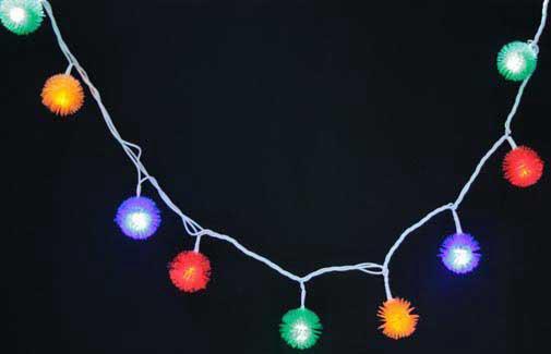 Гирлянда электрическая ЕЖИК 30 ламп цветная белый провод с контроллером 3.1+1.5 м 11255 цена и фото
