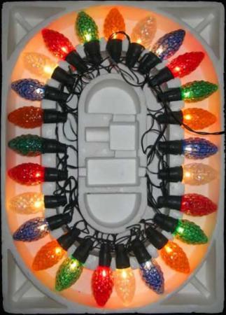 Гирлянда электрическая шишка-ромашка, 25 ламп, прозрачная, цветная, с контроллером, 2,8 + 1,5 м 11258 цена и фото